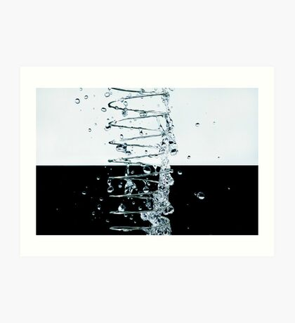 Coiled Water Art Print