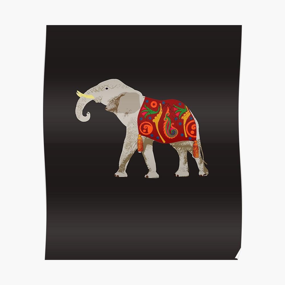 Zirkuselefant Poster
