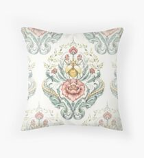 Antique pattern - Beetle and centipedes Throw Pillow