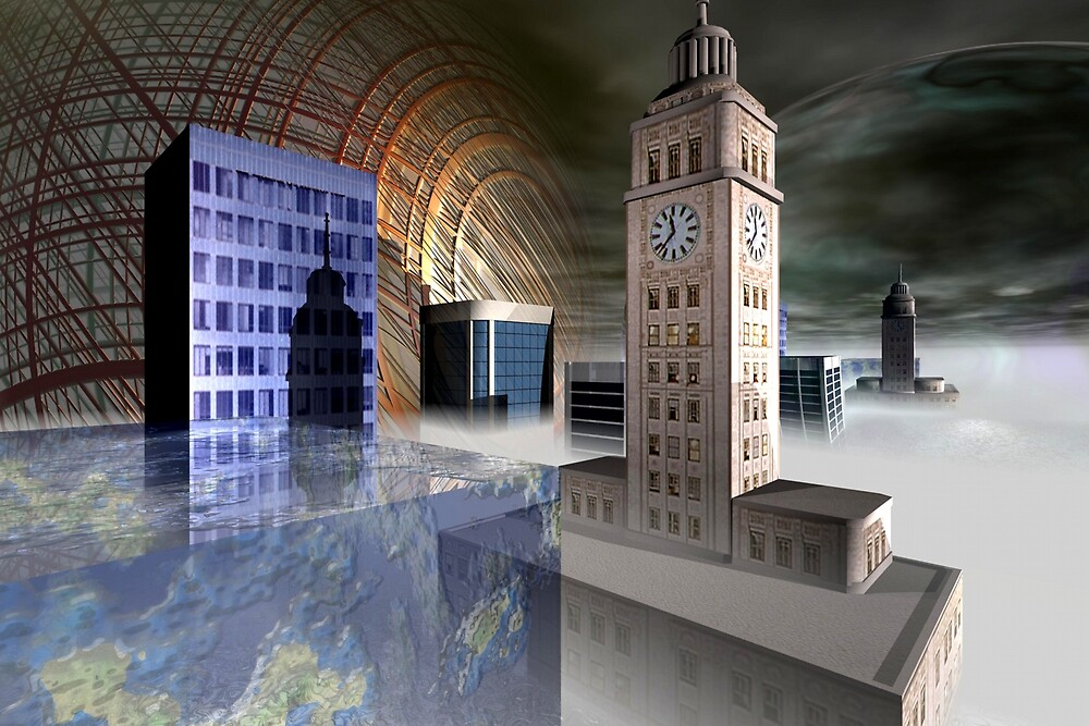 City 2312 by Benedikt Amrhein