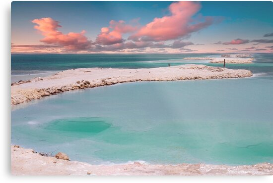 Israel, Dead Sea landscape view Crystallized salt on the shore  by PhotoStock-Isra