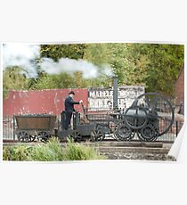 Replica of Richard Trevithick's Colebrookdale locomotive Poster