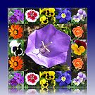 Summers Gone By Floral Collage von BlueMoonRose