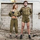 Models in Israeli Army uniform is a deserted location  by PhotoStock-Isra