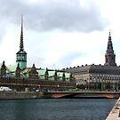Stock Market - Copenhagen, Denmark by Brenda Dow