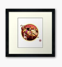 Spicy Donut pinup calender cover Framed Print