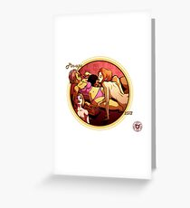Spicy Donut pinup calender cover Greeting Card