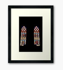 Stained glass windows  Framed Print