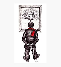 Looking at the Tree surreal black and white pen ink drawing Photographic Print