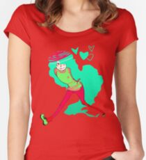 Teal hearts Women's Fitted Scoop T-Shirt