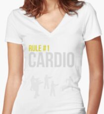 Zombie Survival Guide - Rule #1 Cardio Women's Fitted V-Neck T-Shirt