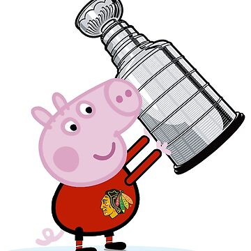 Chicago Blackhawks Fan with Stanley Cup by SomebodyApparel