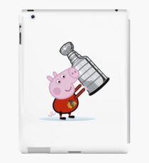 Chicago Blackhawks Fan with Stanley Cup iPad Case/Skin