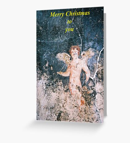 Angel from Pompeii Christmas Card Greeting Card