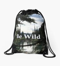 Be Wild Drawstring Bag