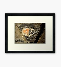 ww2 grafitti hearts underground Framed Print