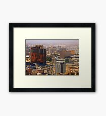 Construction City Framed Print