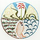 Fish (intuitive embroidery) by Soxy Fleming