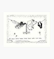 Occupy Antarctica Polar Bear editorial cartoon Art Print