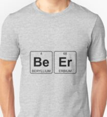 Be Er - Beer - Periodic Table - Chemistry T-Shirt