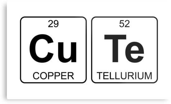 Cu te cute periodic table chemistry metal prints by jenny cu te cute periodic table chemistry by jenny zhang urtaz Choice Image