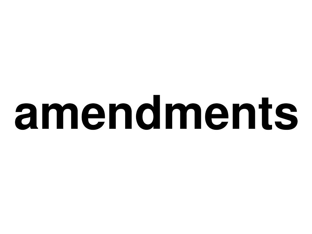 amendments by ninov94