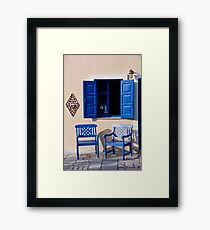 View To The Aegean Framed Print