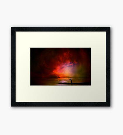 Ocean Violinist Framed Print