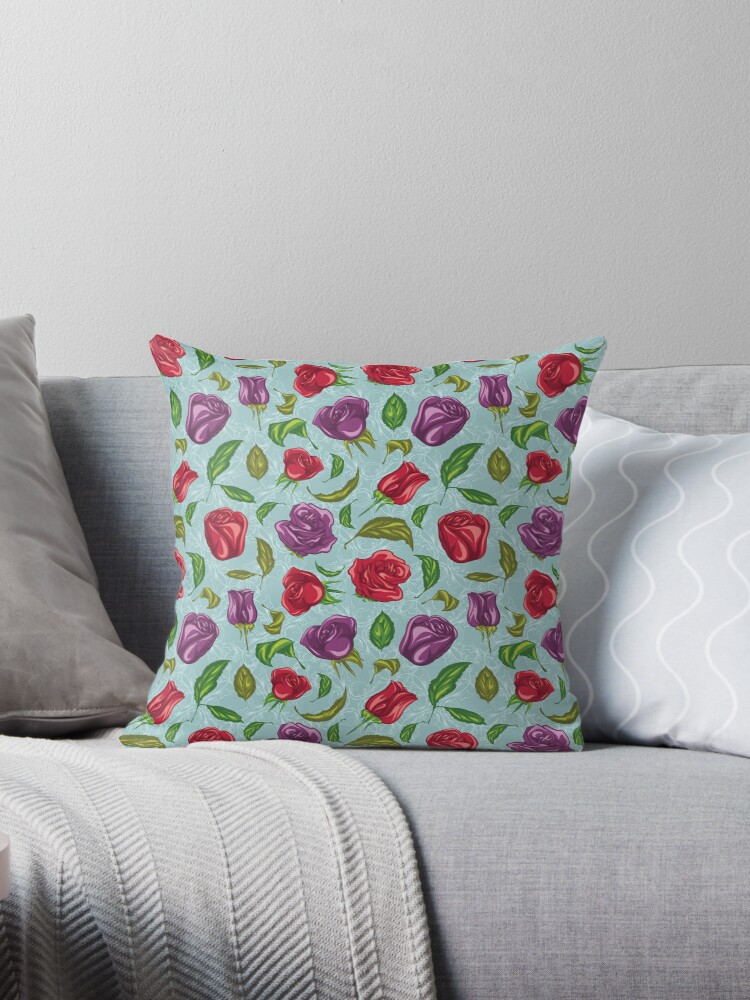 , Pillow decorated with leaves and flowers, startachim blog, startachim blog