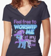 Worship Trixie Women's Fitted V-Neck T-Shirt