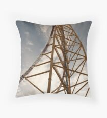Daytime Ride into the Sky Throw Pillow