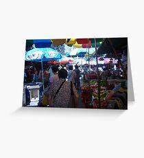 A Food Market in Hong Kong Greeting Card