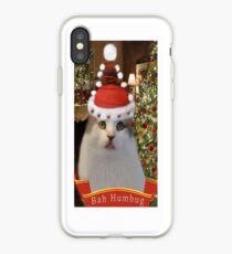 ✿♥‿♥✿   Bah Humbug Cat IPhone Case  ✿♥‿♥✿    iPhone Case