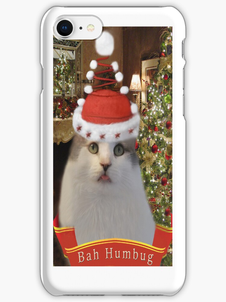 ✿♥‿♥✿   Bah Humbug Cat IPhone Case  ✿♥‿♥✿    by ✿✿ Bonita ✿✿ ђєℓℓσ