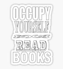 Occupy - read! Sticker