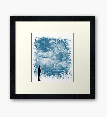 seaside call Framed Print