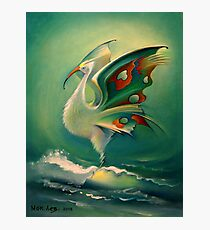 The Bird of Happiness on the Wave of Success! Photographic Print