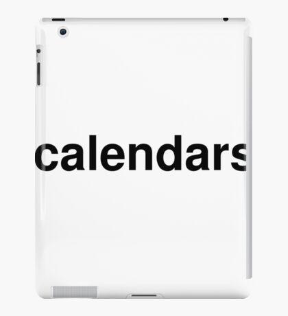 calendars iPad Case/Skin