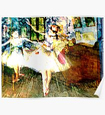 DEGAS DANCER'S HAUNT VAN GOUGH'S ROOM Poster