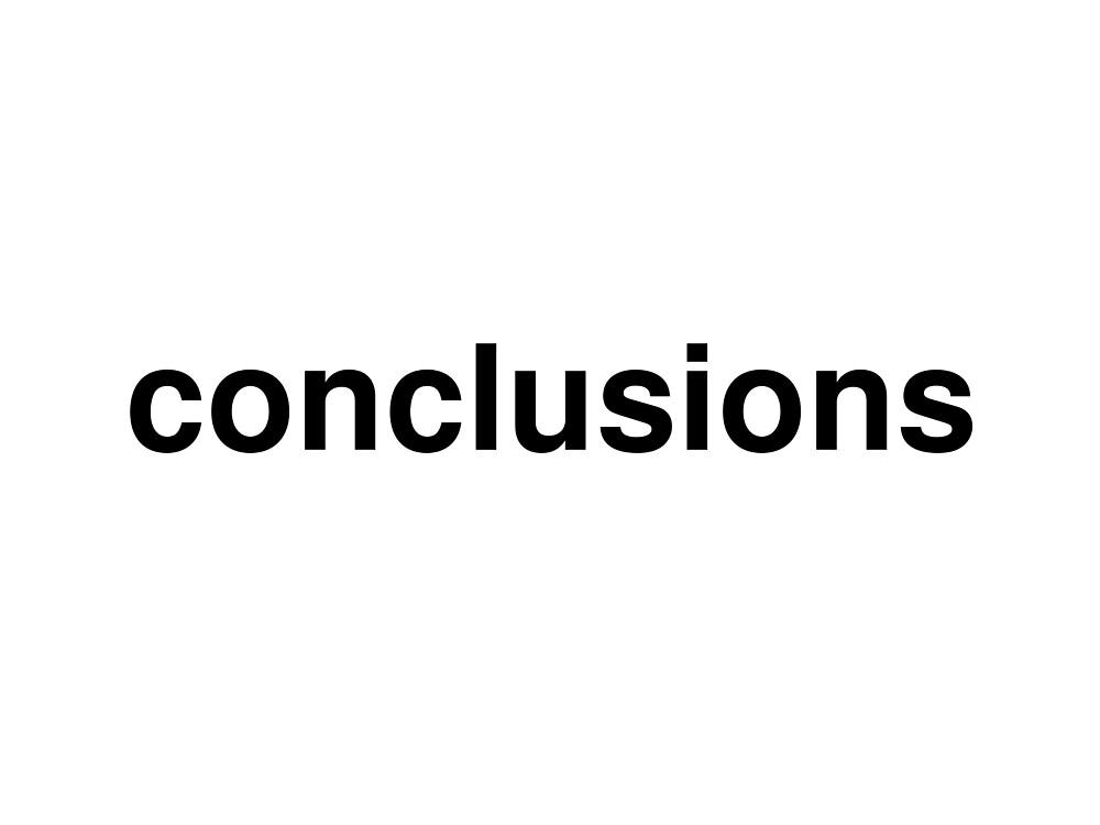 conclusions by ninov94
