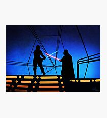 STAR WARS! Luke vs Darth Vader  Photographic Print