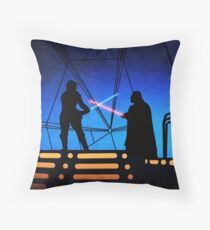 STAR WARS! Luke vs Darth Vader  Throw Pillow