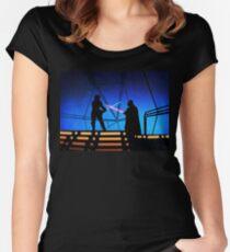 STAR WARS! Luke vs Darth Vader  Women's Fitted Scoop T-Shirt