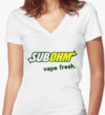 Vape Fresh Women's Fitted V-Neck T-Shirt