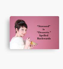 Vintage Stressed Poster Canvas Print