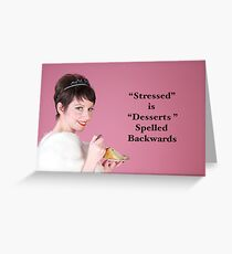 Vintage Stressed Poster Greeting Card
