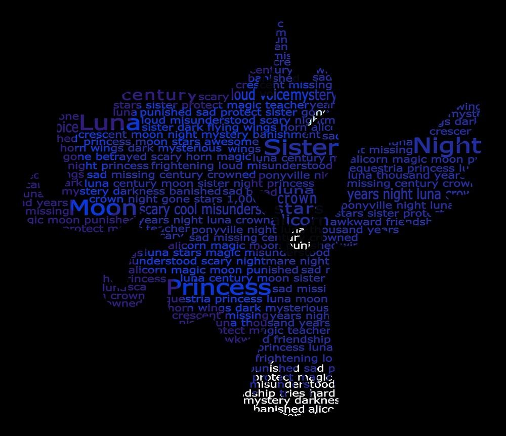 My Little Pony - Luna Typography by SSXVegeta