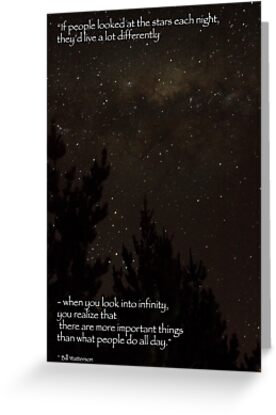 Look at the Stars Each Night by Elysian Photography ~ Art from the Heart