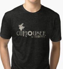 Curiouser & Curiouser Alice in Wonderland Shirt Tri-blend T-Shirt