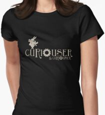 Curiouser & Curiouser Alice in Wonderland Shirt Womens Fitted T-Shirt